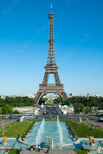 Trocadero Fountains, Eiffel Tower and Champ de Mars II