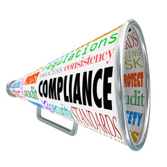 Compliance Bullhorn Megaphone Legal Process Guidelines Rules Law