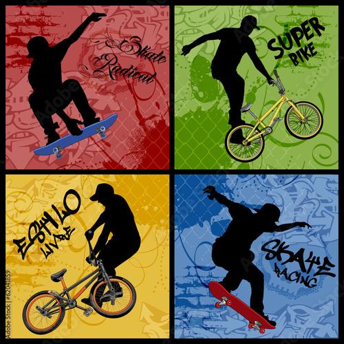 Fototapeta Bike vs Skate