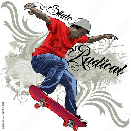 Zdjęcia na płótnie, fototapety, obrazy : Skate Radical