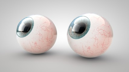 Eye on a white background. 3D illustration