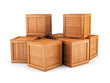 Wooden boxes group