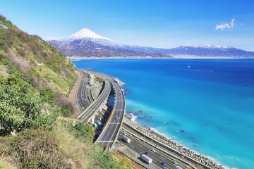 さった峠から富士山