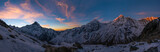 Panoramic view of Annapurna Range at sunrise, Nepal