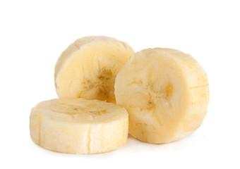 Banana slice closeup