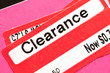 clearance Price Tag