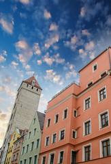 Regensburg medieval skyline, Germany