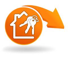 maison à vendre sur bouton orange