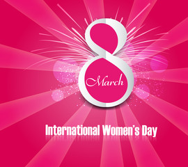 Beautiful background design for women's day colorful card vector