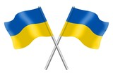 Two Ukrainian flags