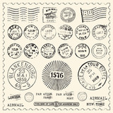 Fototapety Vintage Stamps Set