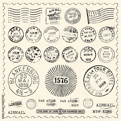 Vintage Stamps Set - 62047297