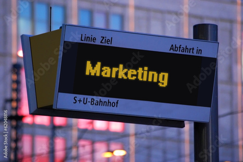 Anzeigetafel 1 - Marketing