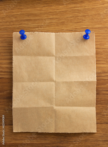 note paper on wood