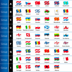 Soccer Championship 2016 Euro Flags