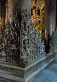 Wood carving detai at Shwe In Bin Kyaung  in Mandalay, Myanmar