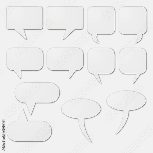 speech bubble as white cardboard