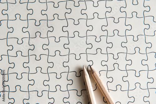 パズルと鉛筆