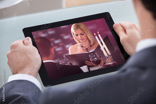 Businessman Watching Video