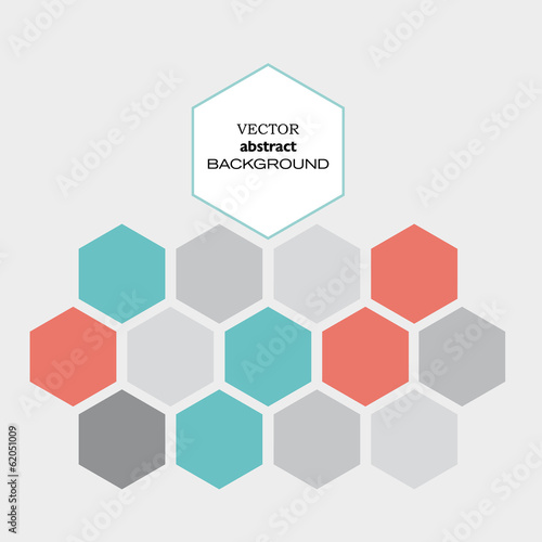 Vector hexagon background