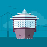 Flat ship illustration