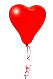 Love balloons on white background, isolated