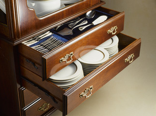 living room furniture with drawers