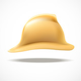 Gold fireman helmet vector side view