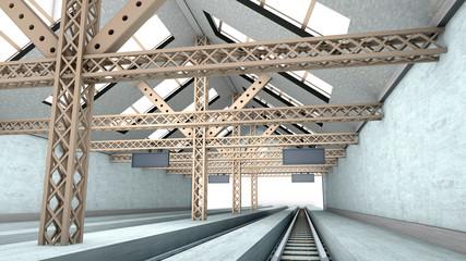 Antiker Bahnhof