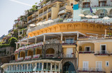 Hotel and Restaurant Terraces on Positano Hillside
