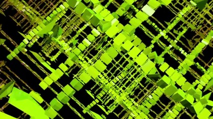 Abstract green figures . 3d graphics , vj
