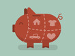Piggy bank eps 10 vector illustration