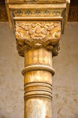 Columna del patio de los Arrayanes, Alhambra de Granada