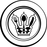 cutlery - royal Crown on plate