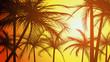 Horizontal illustration silhouettes of palms.