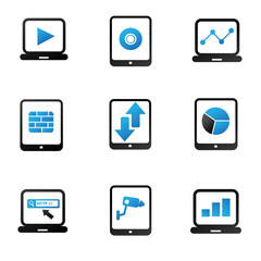 Computer and tablet pc,icon set,vector