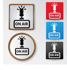On air sign,vector