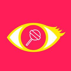 Eye with  Lollipop.