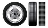 Wheel - Tire and Aluminum Rim