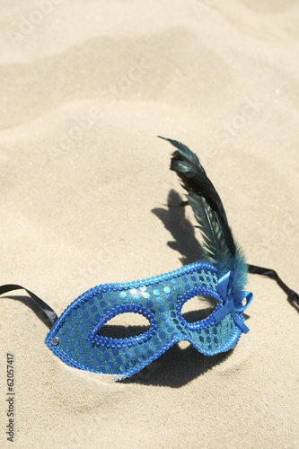 Carnival Mask on Sand Beach