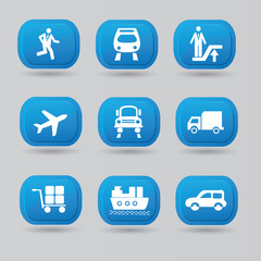 Transport icon set,vector