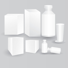 White packaging,vector