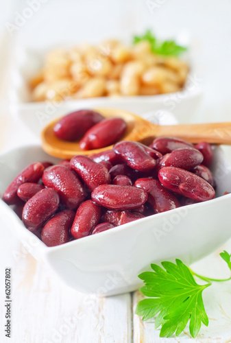 red and white beans