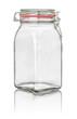 freigestelltes hohes Einmachglas mit Drahtbügelverschluss