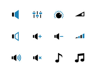 Speaker duotone icons on white background.