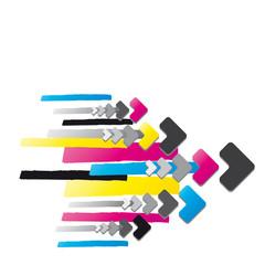 Pfeile in cmyk Farben - Hintergrund