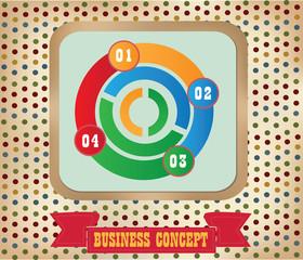 Business diagram,vintage,vector