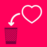 wastebasket and a  Heart.