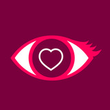 Eye with  Heart.