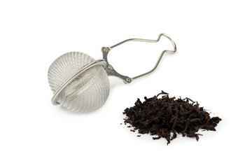 Tea-strainer and black tea